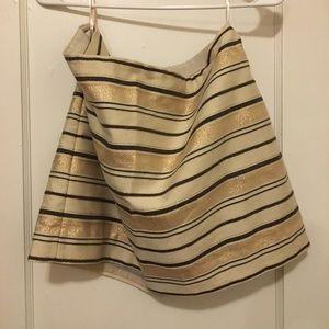 J.Crew Gold Mini Skirt - Size 12